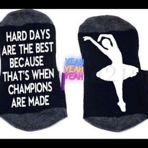 Coming Soon: Ballerina Hard Work Champions Socks